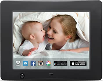 nixplay 8 inch wi fi cloud digital photo frame iphone android app