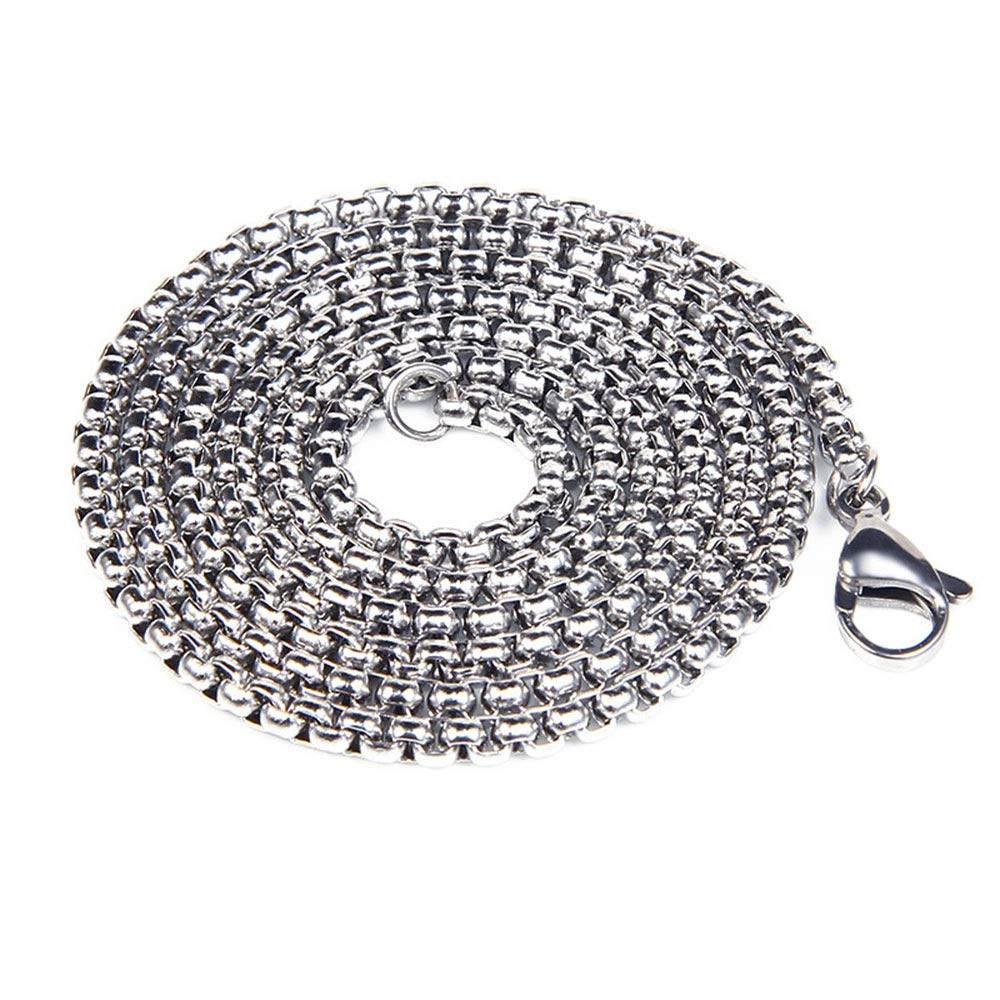 Punk Titanium Steel Necklace Mens 316L Stainless Vintage Oxidized Mask Pendant Gothic Stainless Steel Pendant Necklace Silver Black for Teens Man Stainless Steel Chain Pendant