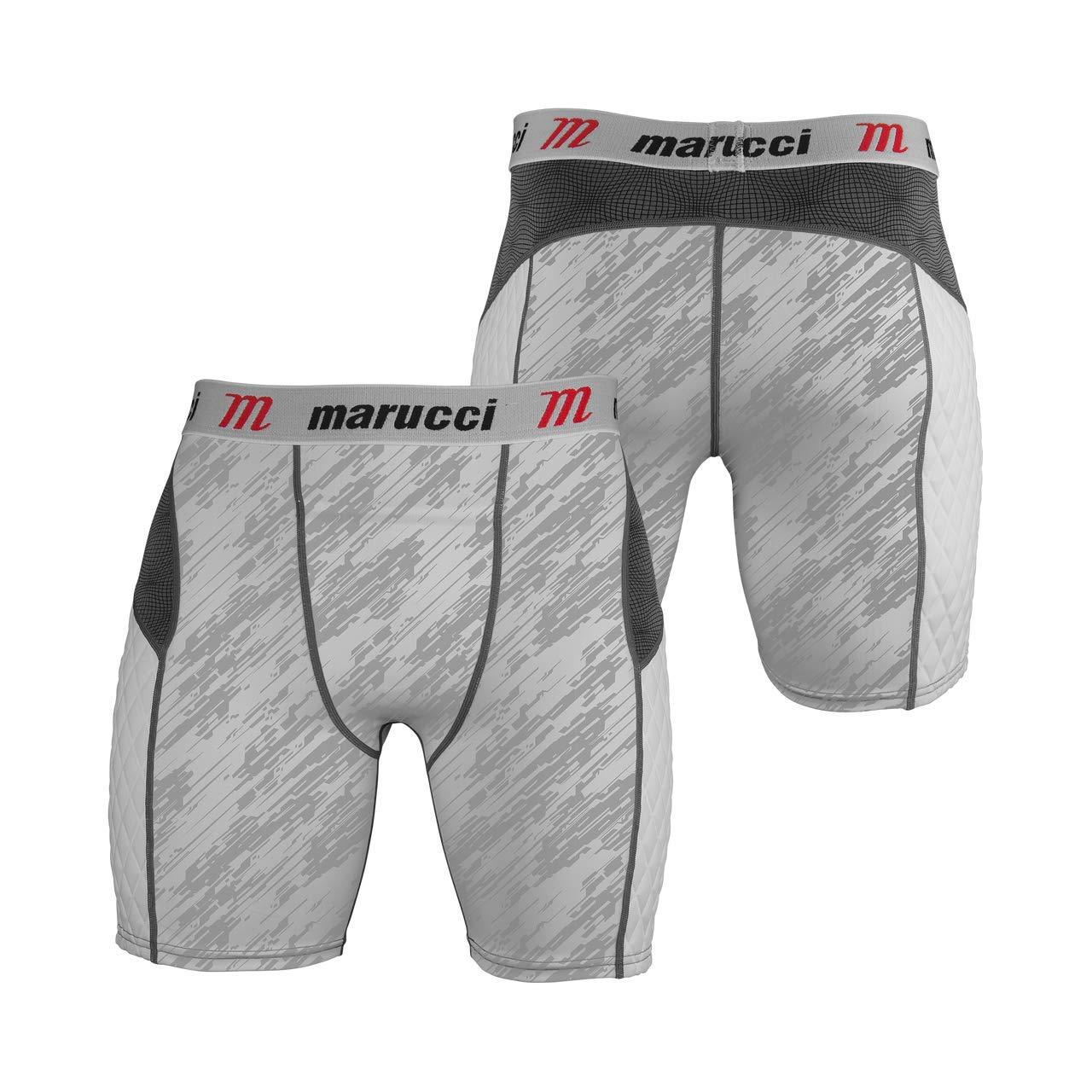 White Storm XX-Large Marucci Adult Elite Padded Slider Shorts