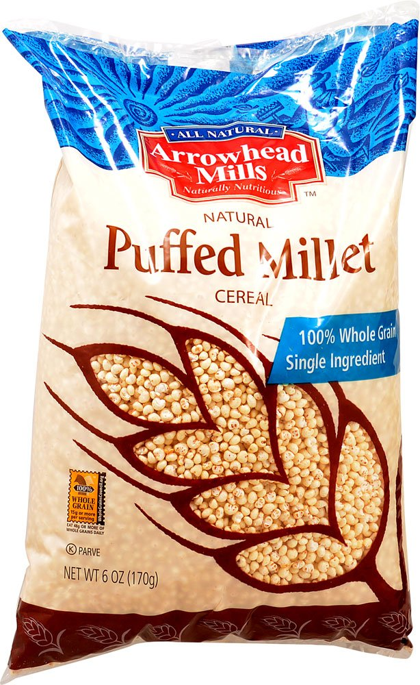 Arrowhead Mills Cereal Puffed Millet-6 oz (Pack of 2)