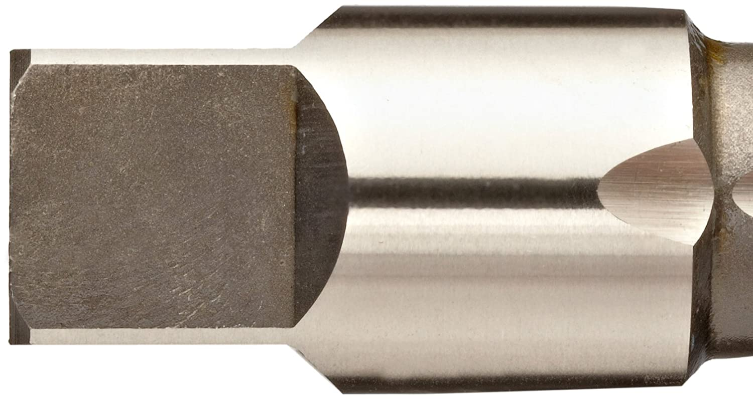 Bottoming Chamfer Round Shank with Square End Union Butterfield 1534NR 1-13//16 Oall Length UNF Uncoated Bright High-Speed Steel Spiral Point Tap 10-32 Thread Size Finish