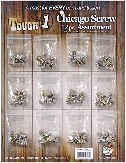 Chicago Screws Binding Screws Posts Assortment Kit Brass Plated Steel 180-Piece