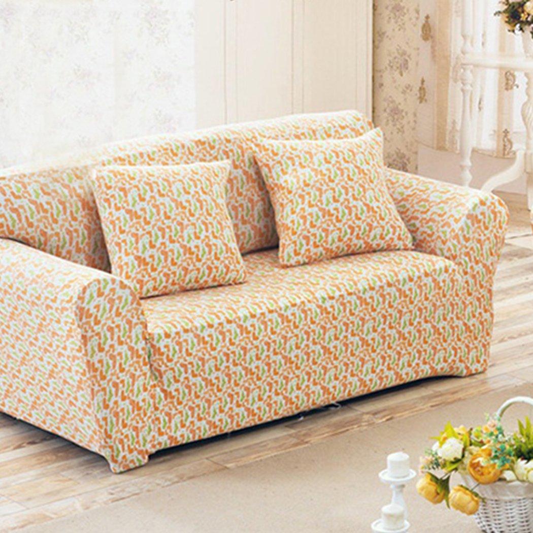 Raylans estensibile sedile sedia coperture divano Slipcover divano Loveseat di 15colori/4per 1234quattro persone divano, Dark Blue, 1 seduta BRT-JJ115-Dark Blue-1P