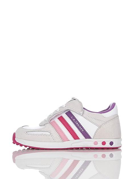 size 40 b974a 84cf2 adidas Scarpa La Trainer Cf Bianco Viola Rosa EU 27  Amazon.it  Scarpe e  borse