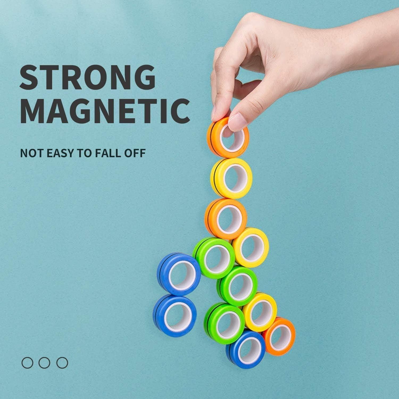 Giocattolo per La Punta delle Dita con Magnete Giocattolo per La Punta delle Dita GJXJY 9 PCS Anello da Dito Magnetico Anello da Dito Magnetico per Il Giocattolo