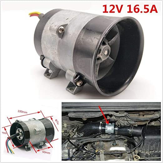Kampre Supercharger Turbine Turbo Cargador Cargador de Aire Ahorro de Combustible Ventilador 12V Universal Coche Turbina eléctrica Potencia Turbo ...