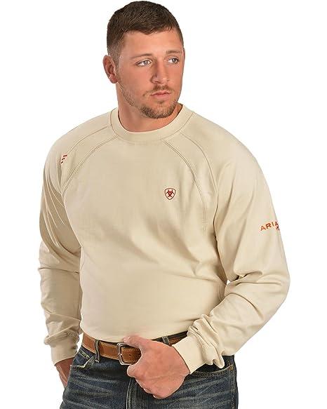 ARIAT Men's Big-Tall Flame Resistant Long Sleeve Work CrewShirt
