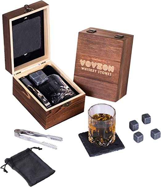 Amazon.com: Piedras de whisky y vasos de regalo, piedras de ...