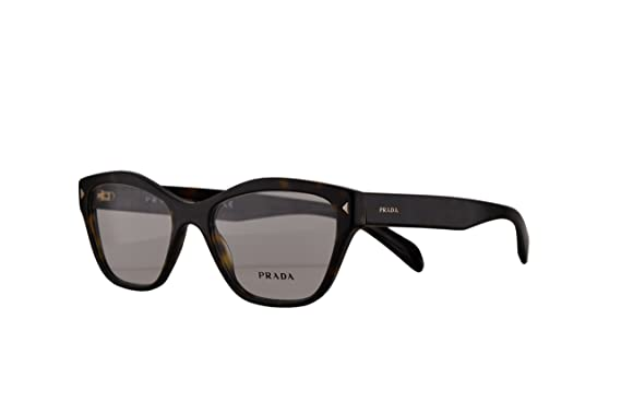 f483bb5a7fe3 Image Unavailable. Image not available for. Color  Prada PR27SV Eyeglasses  53-17-140 Havana w Demo Clear Lens ...