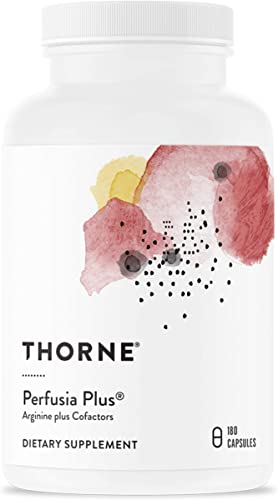 Thorne Research – Perfusia Plus – Sustained-Release L-Arginine Plus Cofactors to Support Heart Health, Nitric Oxide Production, and Optimal Blood Flow – 180 Capsules