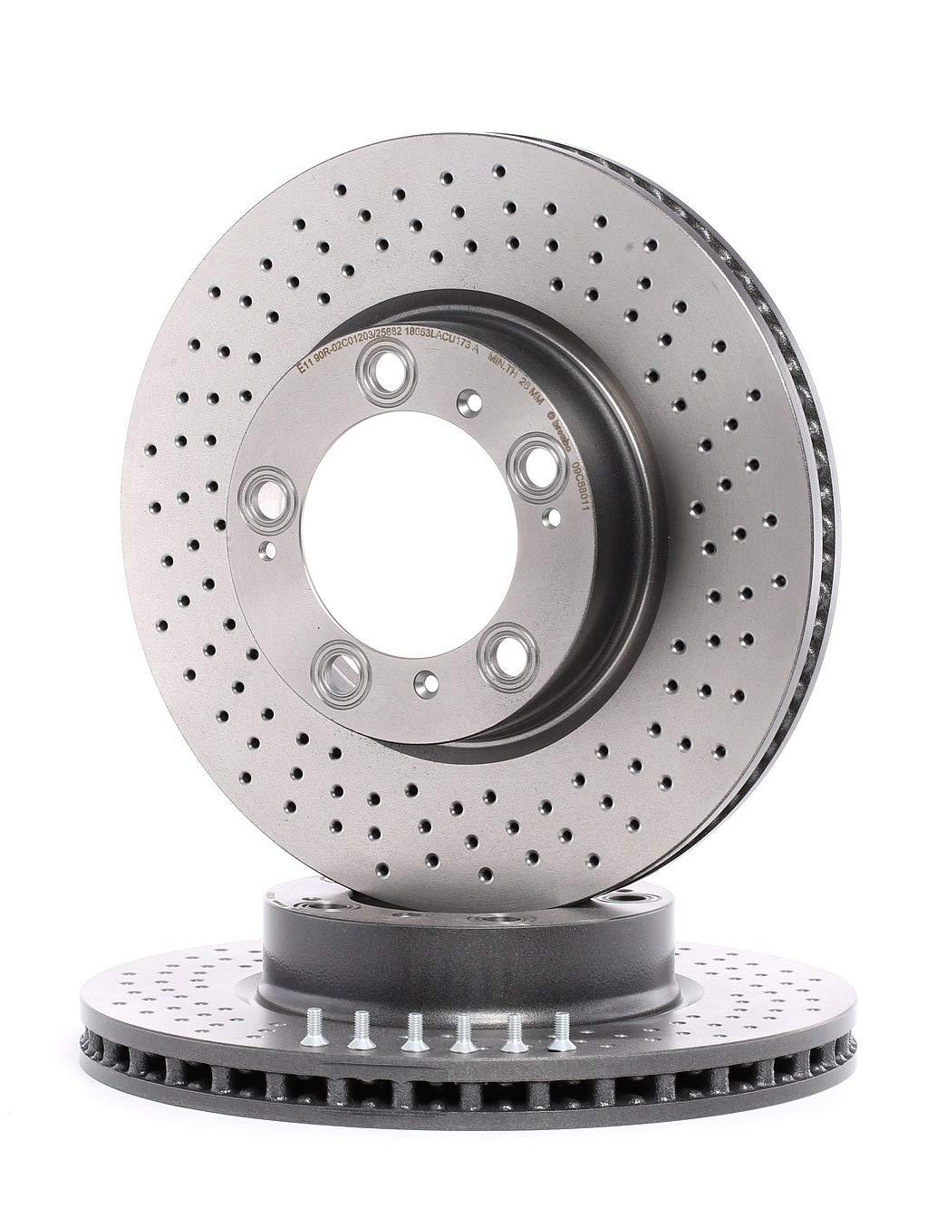 BREMBO 09.C880.11 Bremsscheibe Scheibenbremsen x2 Bremsscheiben