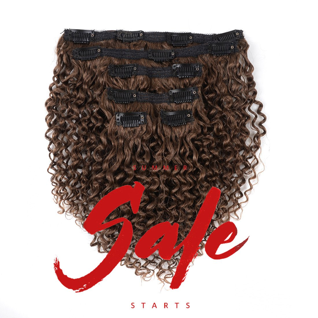 Fashion Queen Hair Afro Kinky Curly Clip In Human Hair Extension