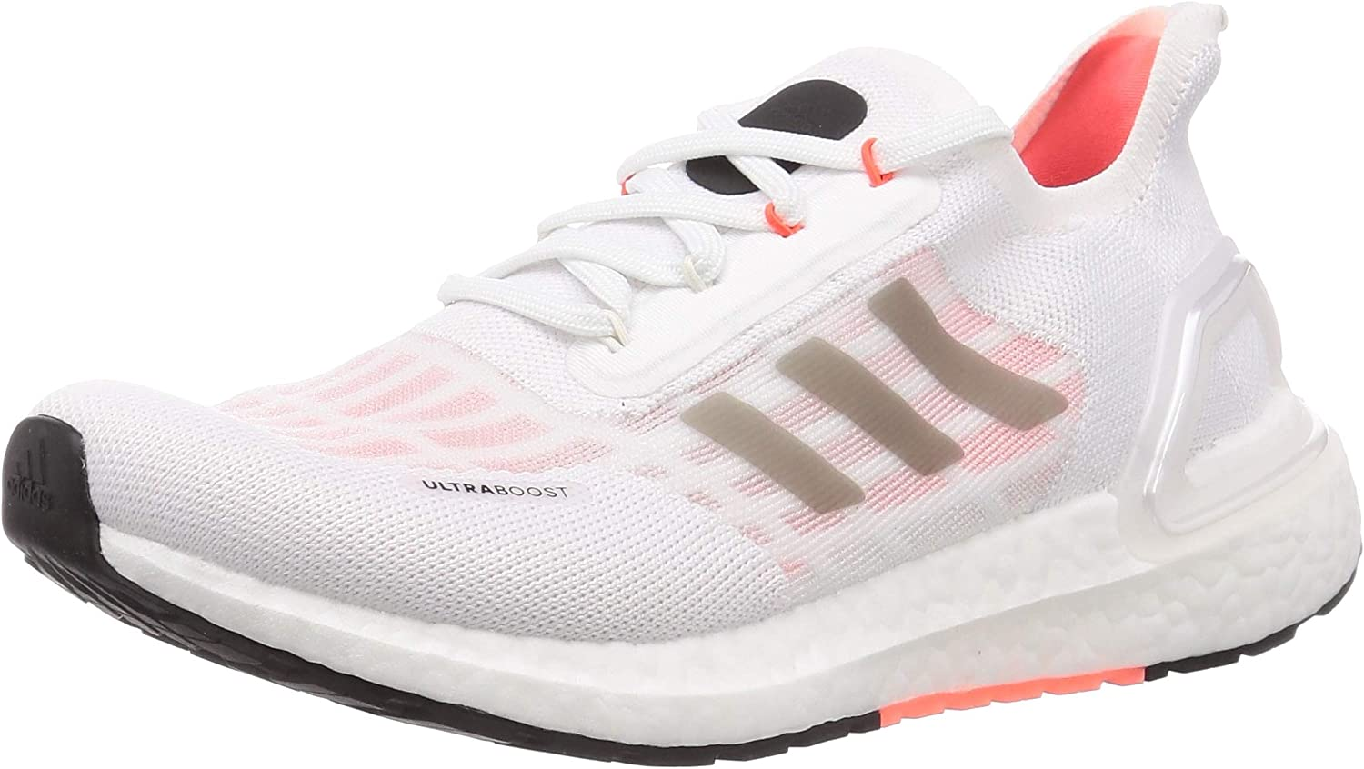 adidas Women's Competition Running Shoes, FTWR White Core Black Solar Red, 7.5 us