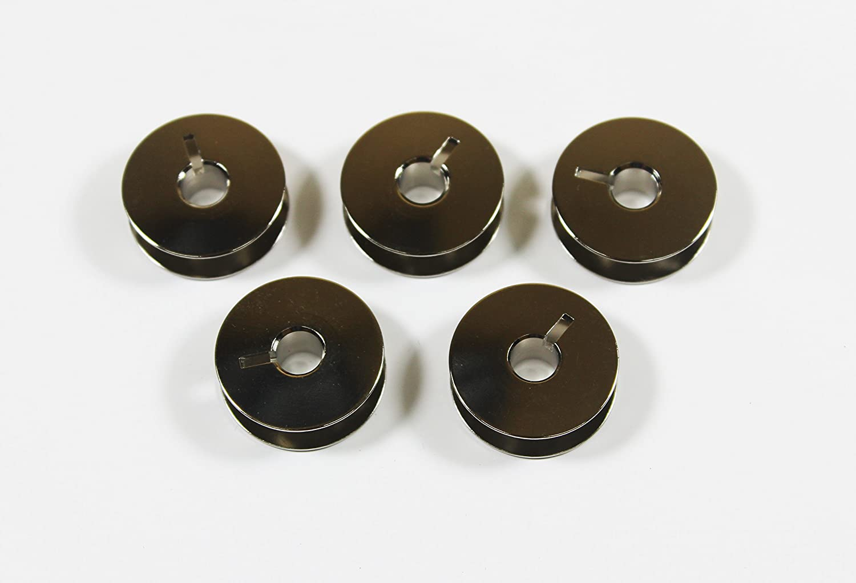 La Canilla ® - Pack de 5 Canillas Metálicas para Máquina de Coser REFREY 427-430: Amazon.es: Hogar