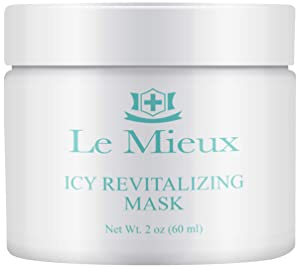 Le Mieux Icy Revitalizing Mask - Cooling Clay Mask with French Green Clay & Amazon White Clay for Oily & Blemish Prone Skin (2 oz / 60 ml)