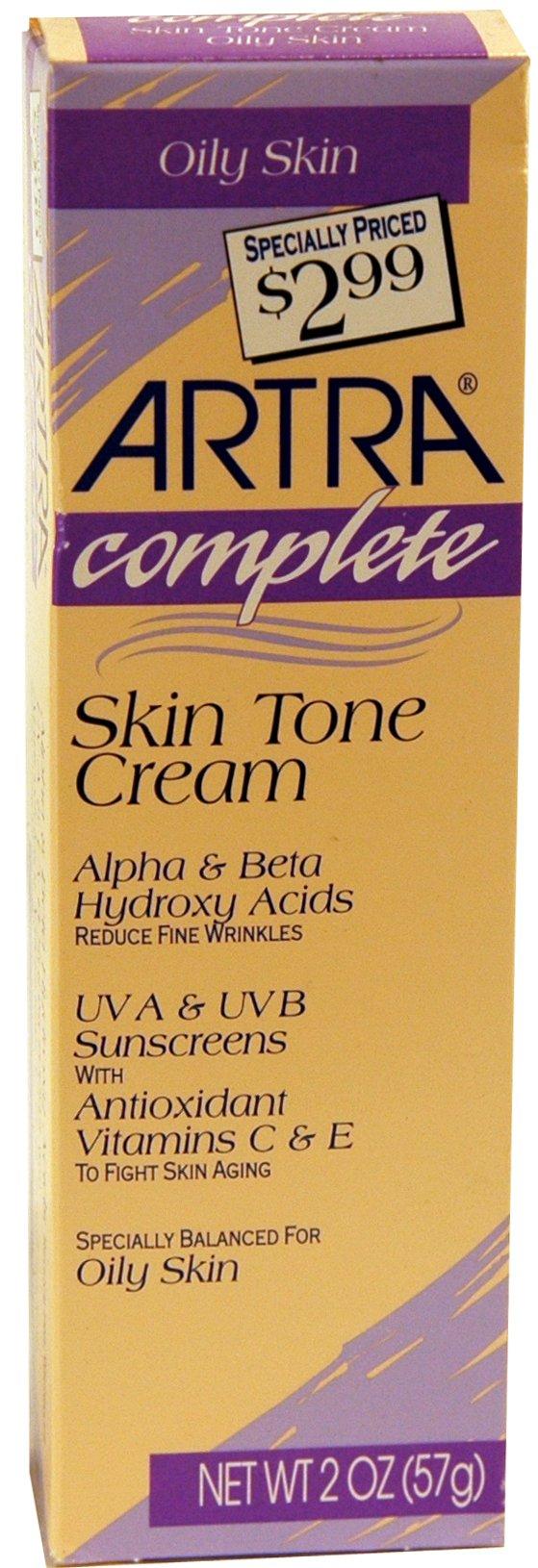 Artra Skin Tone Cream for Oily Skin, 2 oz (Pack of 2)