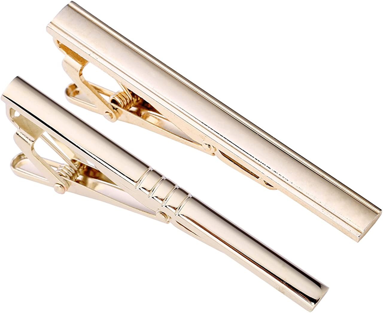 Zysta classic men/'s silver tie pin and cuff links set for weddings and business