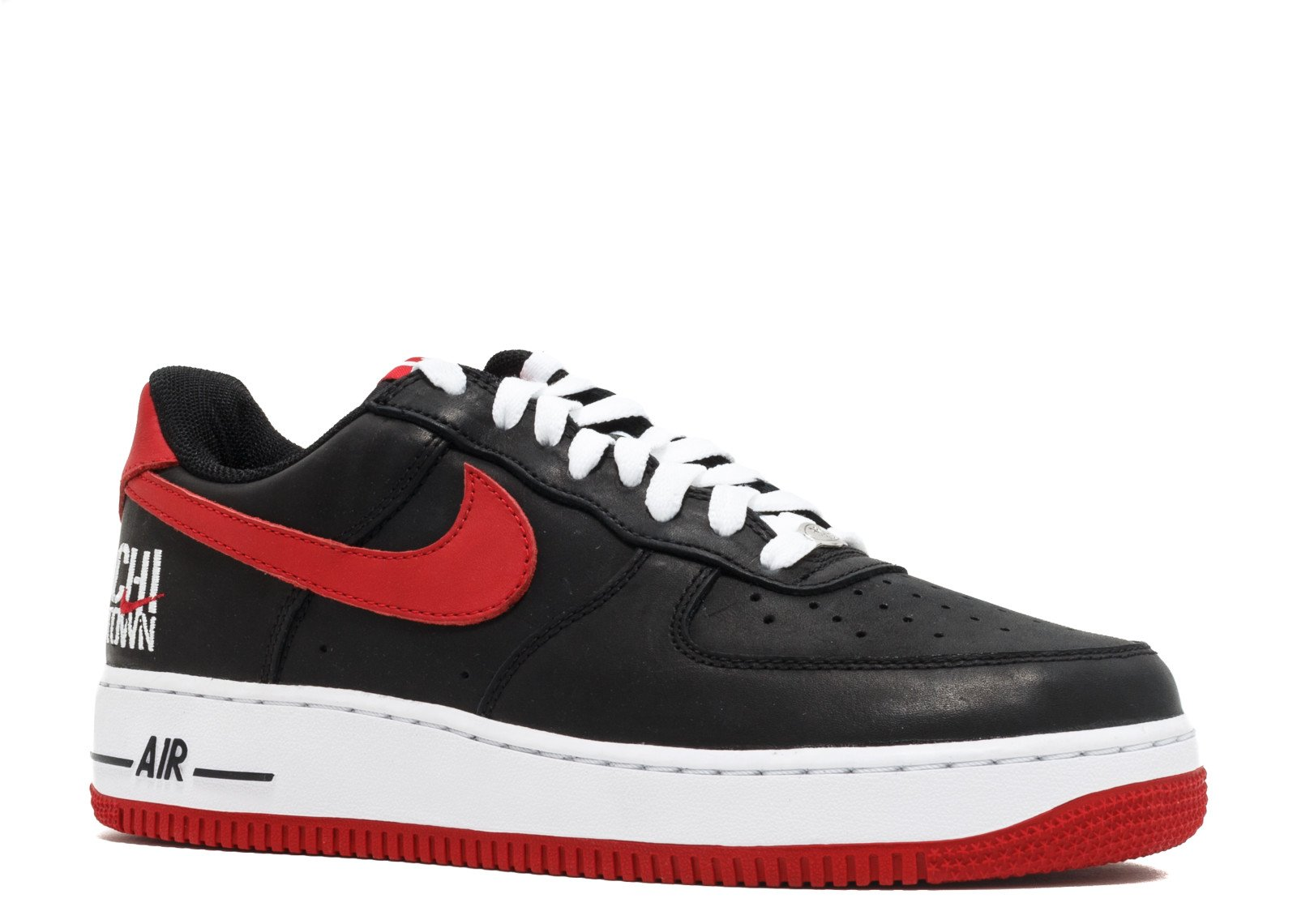 the best attitude b9bbb f7ef5 Galleon - Nike Air Force 1 Low Retro Black Varsity Red-White (11 D(M) US)