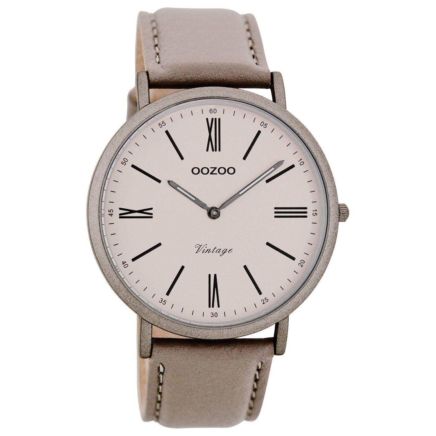 Quarz Digital Herren Uhr Armband Leder Mit C7711Uhren Oozoo iuPZkX