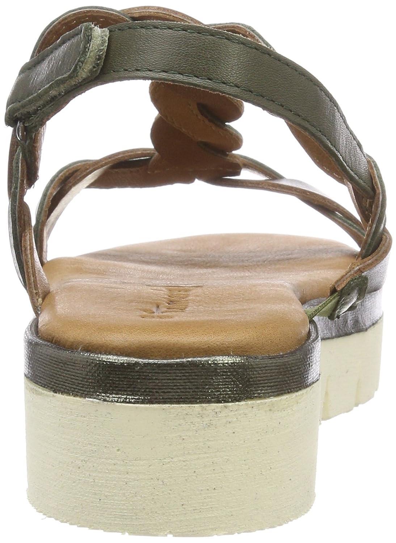 Tamaris Damen 28716 Slingback Sandalen (Olive/Ol.metal) Grün (Olive/Ol.metal) Sandalen ee6733