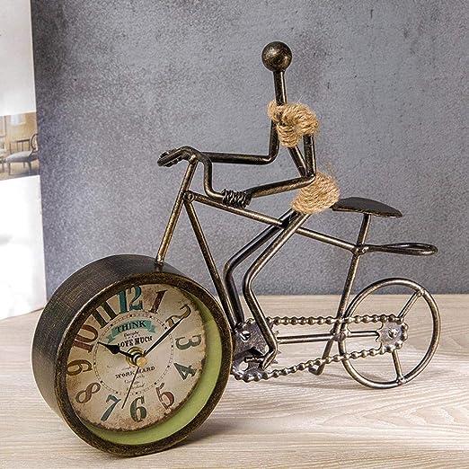 irugh Relojes de Chimenea,Retro Reloj de Mesa de Hierro Creativo ...