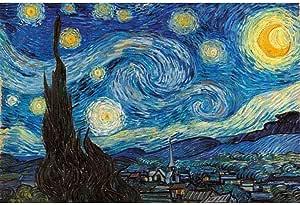 Juguetes educativos Vaivén de Puzzles Adultos Niños, 1000/1500/2000/3000/5000 Piezas, Mundo famoso cuadro Pesca estrellada de Van Gogh pintura del girasol Puerto Petrolero, de madera Rompecabezas clás: Amazon.es: Juguetes y juegos