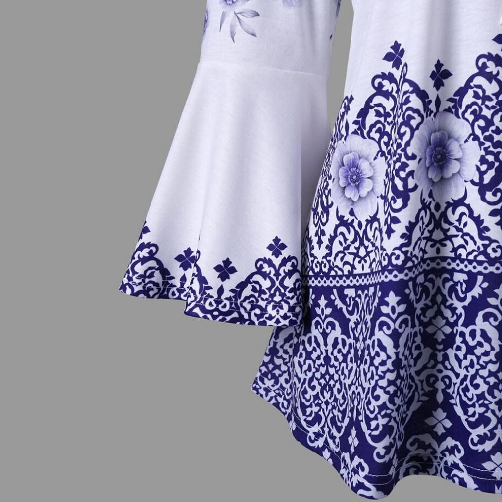 ❤ Manga Flare para Mujer de Moda,Blusas Estampadas de Tallas Grandes Blusas Camisetas de Manga Larga Absolute: Amazon.es: Ropa y accesorios