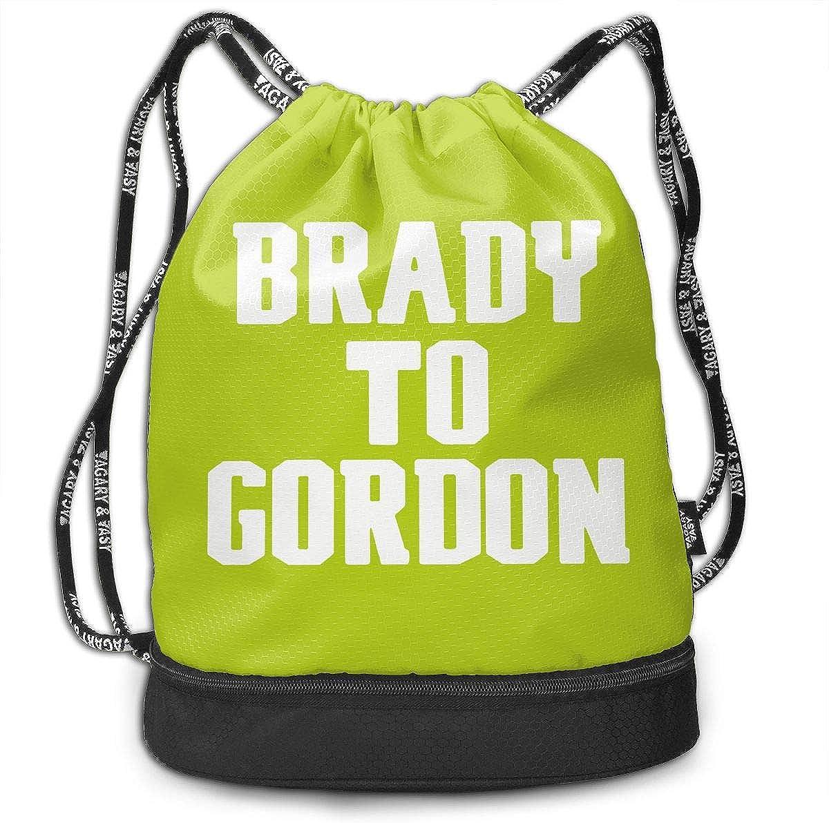 Drawstring Bag New England Brady To Gordon Gym Bag Sport Backpack Shoulder Bags Travel College Rucksack