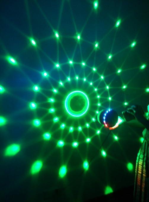 Amzdeal Lumière Musique Lampe d ambiance Ampoule de scène 12W RGB Couleur  changant Éclairage scénique LED rotatif magique boule portables 48 LEDs pour  ... e38253066bb8