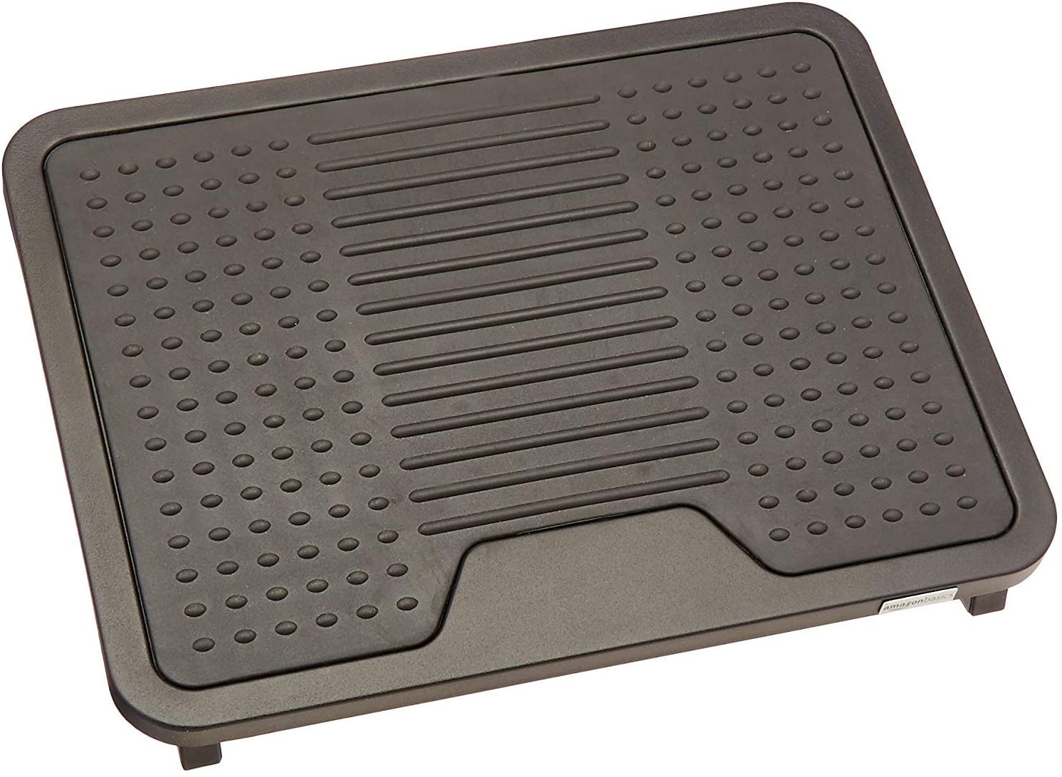 Basics Under Desk Foot Rest - Black : Office Products