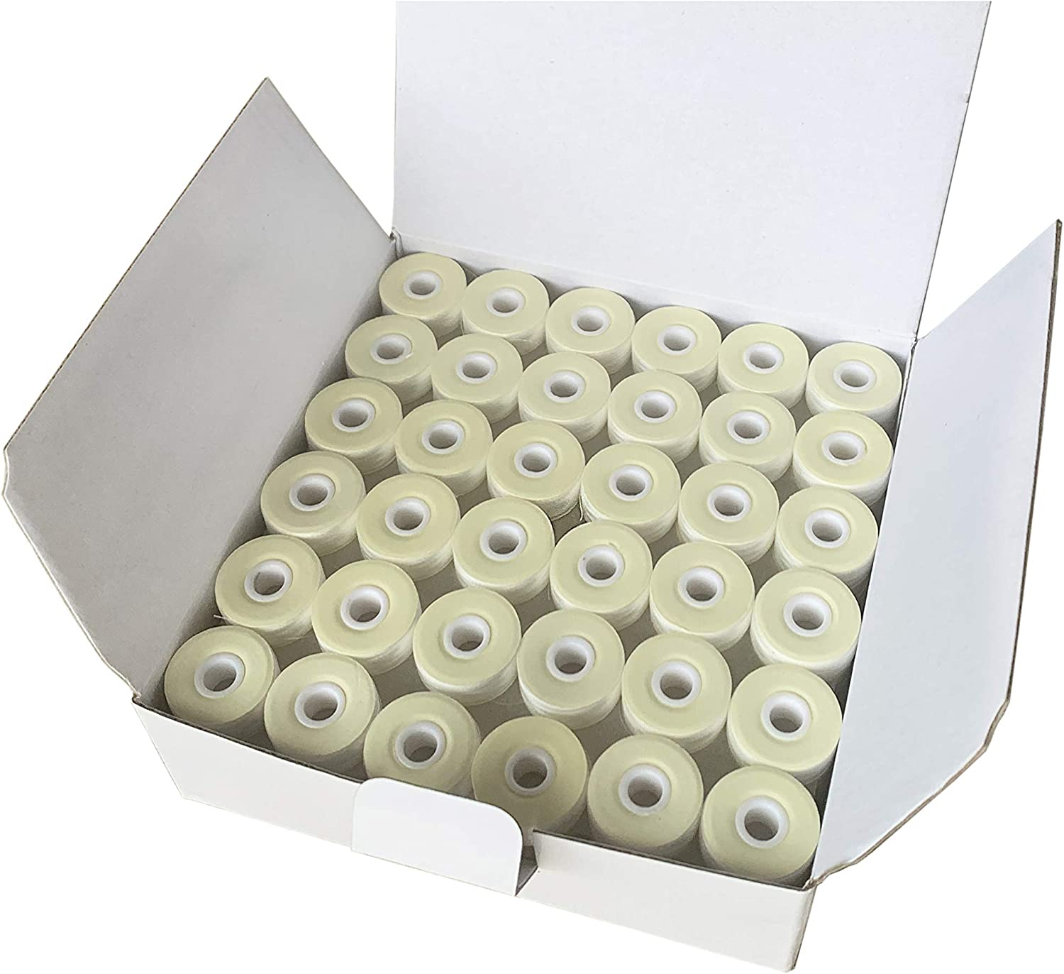Plastic Sided Compatible with Brother Babylock Janome Embroidery Machines SA156 144 White PreWound Bobbins for Embroidery Machines Size A