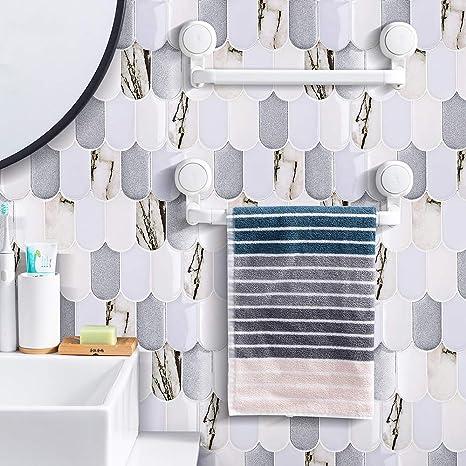 homeymosaic peel and stick backsplash tile 3d wall silica gel vinyl tiles for home decor stick on kitchen bathroom back splashes 5 sheet 11 x10 fish
