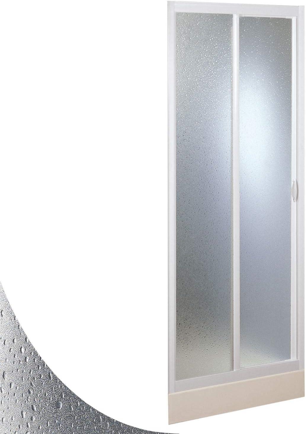 Mercurio avec Ouverture Laterale Forte Paroi Douche 100 CM en Acrylique Mod