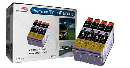 Merotoner T0711 - Juego de 4 cartuchos de tinta negra para ...
