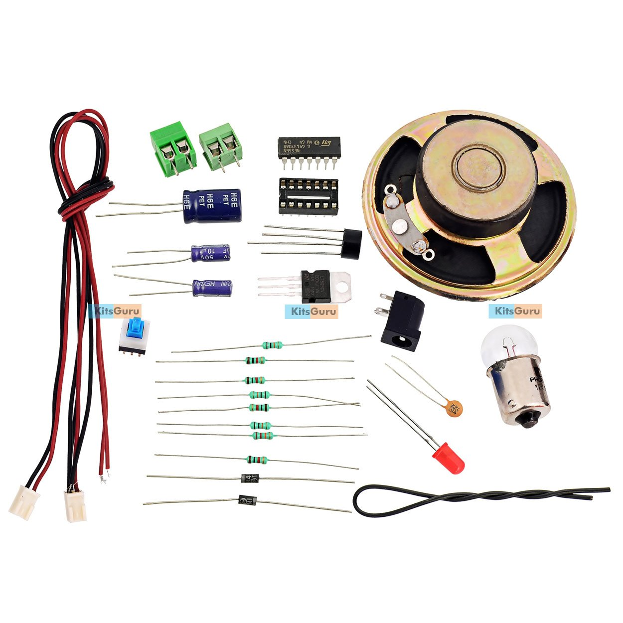 Diy Kit Us Police Siren Lgkt124 Easy Electronic Projects Amazon Circuit Diagram