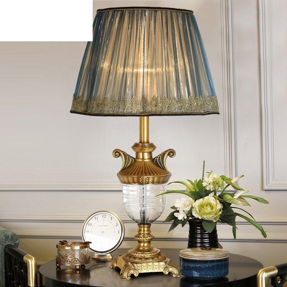 Sonne Pur Kupferlampe Kupferlampe Kupferlampe Kristall-tischleuchte Schlafzimmer Bett Lampe Wohnzimmer-tischleuchte Europäische Tischleuchte-A Dimmer switch B071S3C28Y       Exquisite (mittlere) Verarbeitung  0b6f28