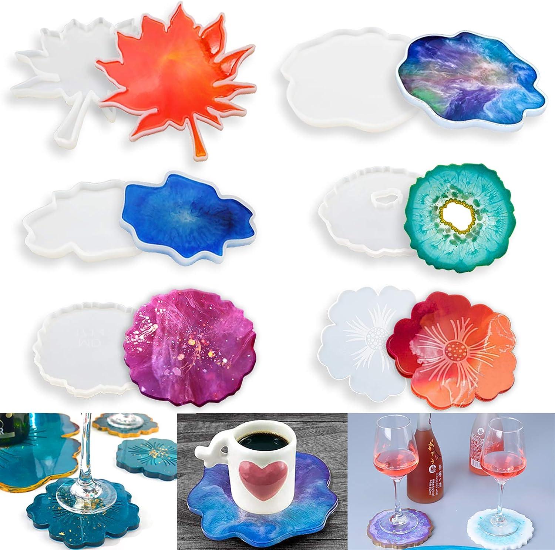 Handmade Epoxy Resin Coasters Tile Coasters Christmas Coasters Christmas Gift