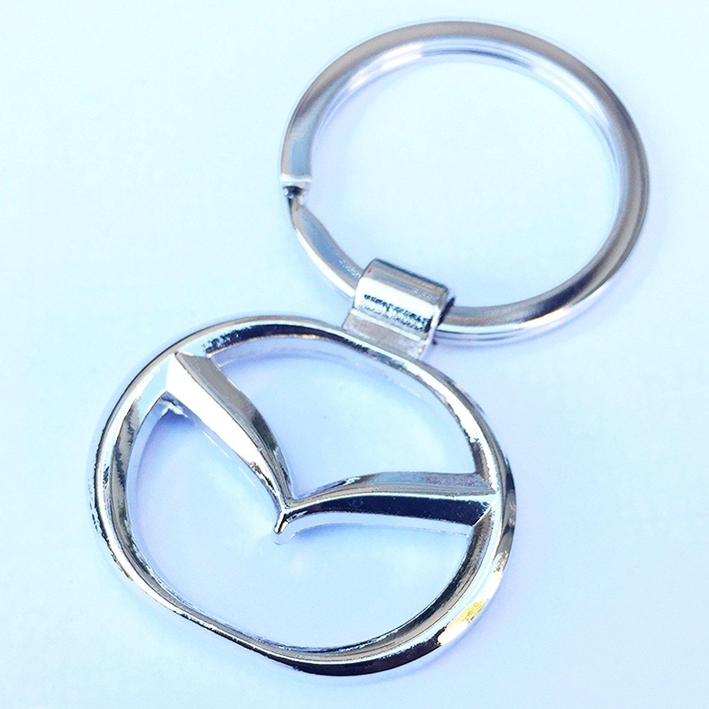Llavero de metal cromado con el logotipo de Ecovers de Mazda