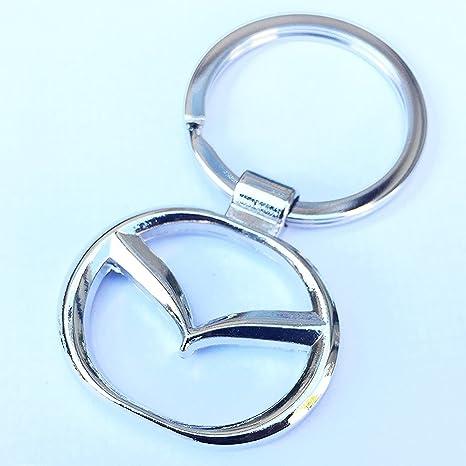 Llavero de metal cromado con el logotipo de Ecovers, de Mazda