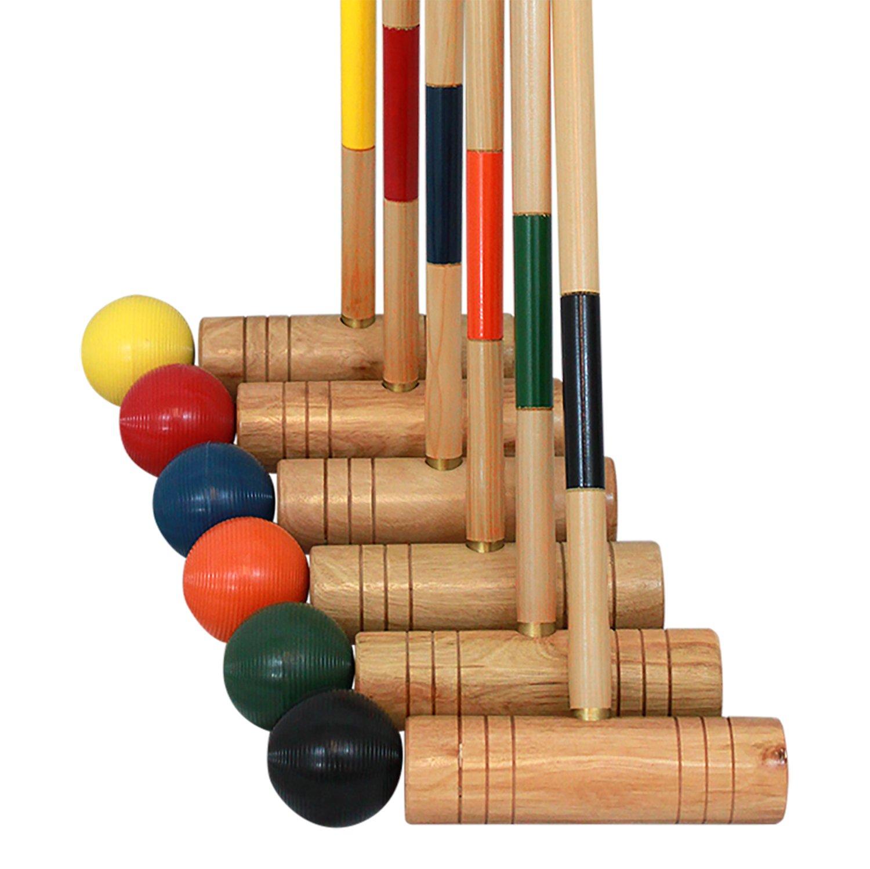 Baden 6-Player Champions Croquet Set with Soft Grip Handles