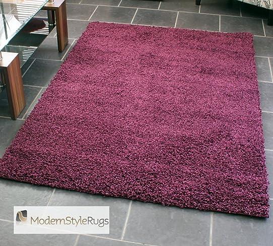 Tapis shaggy prune tapis sur mesure violet par vorwerk Tapis salon prune