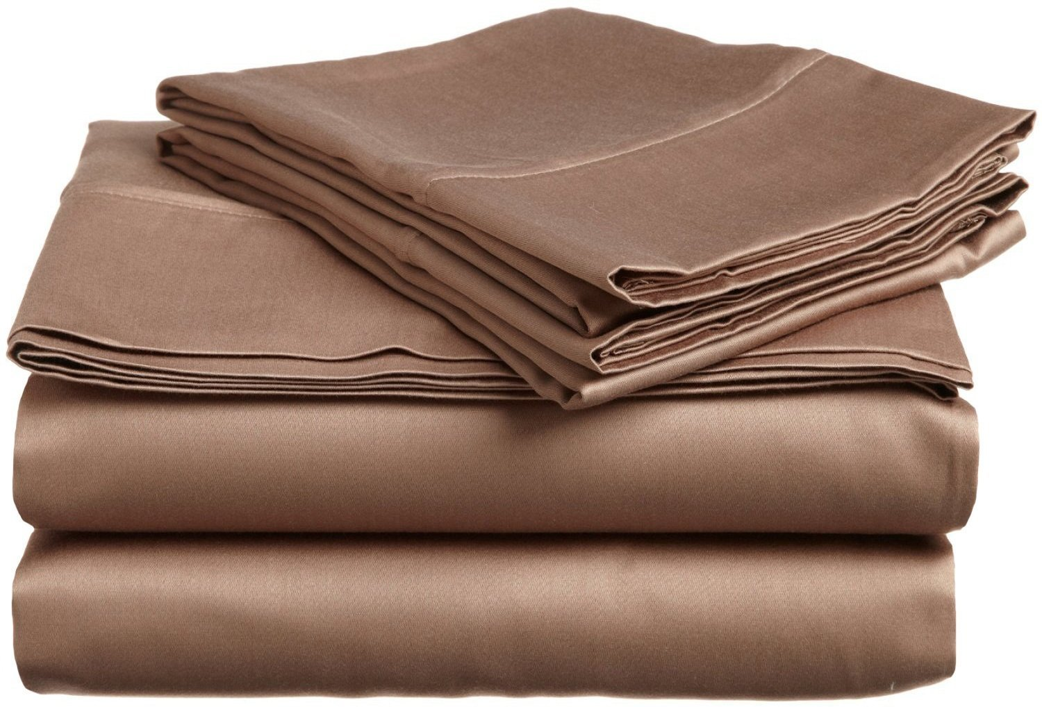 """Egyptian Quality ( 1PCs Flat Sheet Only )- Queen XL Size- Latest Tremendous Flat Solid Colors ( """"Taupe"""" ) By Galaxy's Linen ( 400 TC )"""