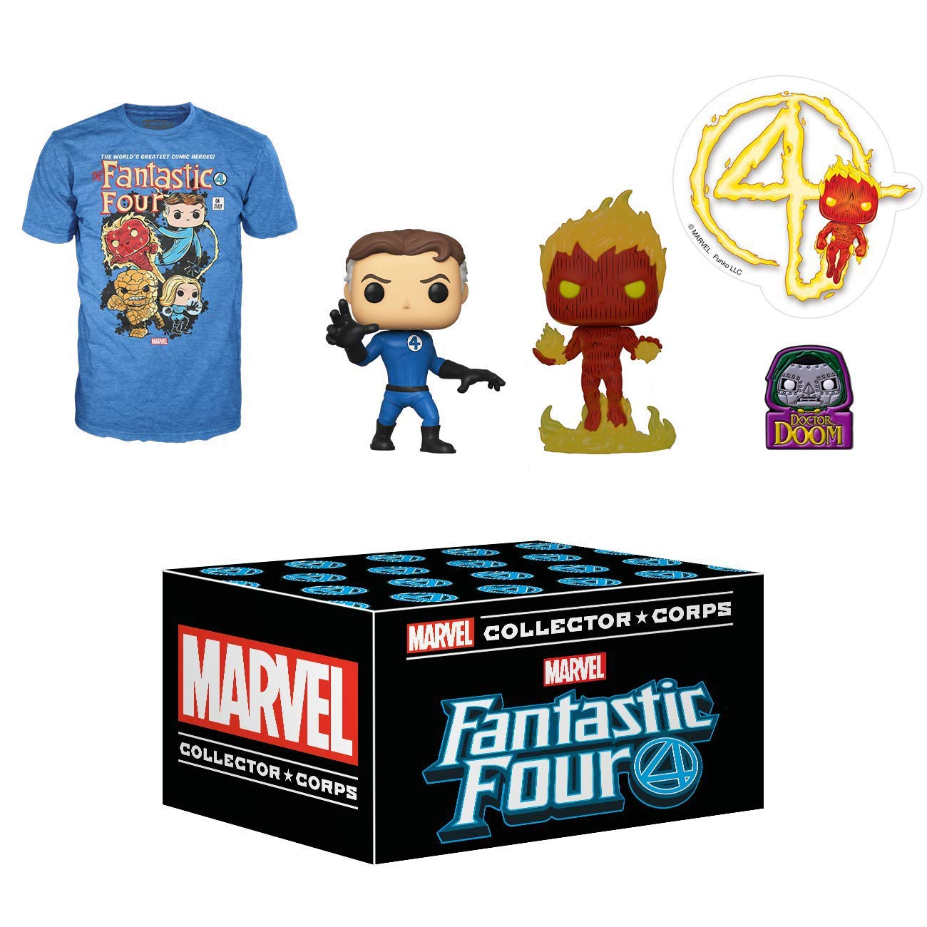 Funko Marvel Collector Corps Subscription Box, Fantastic Four - XL, January 2020