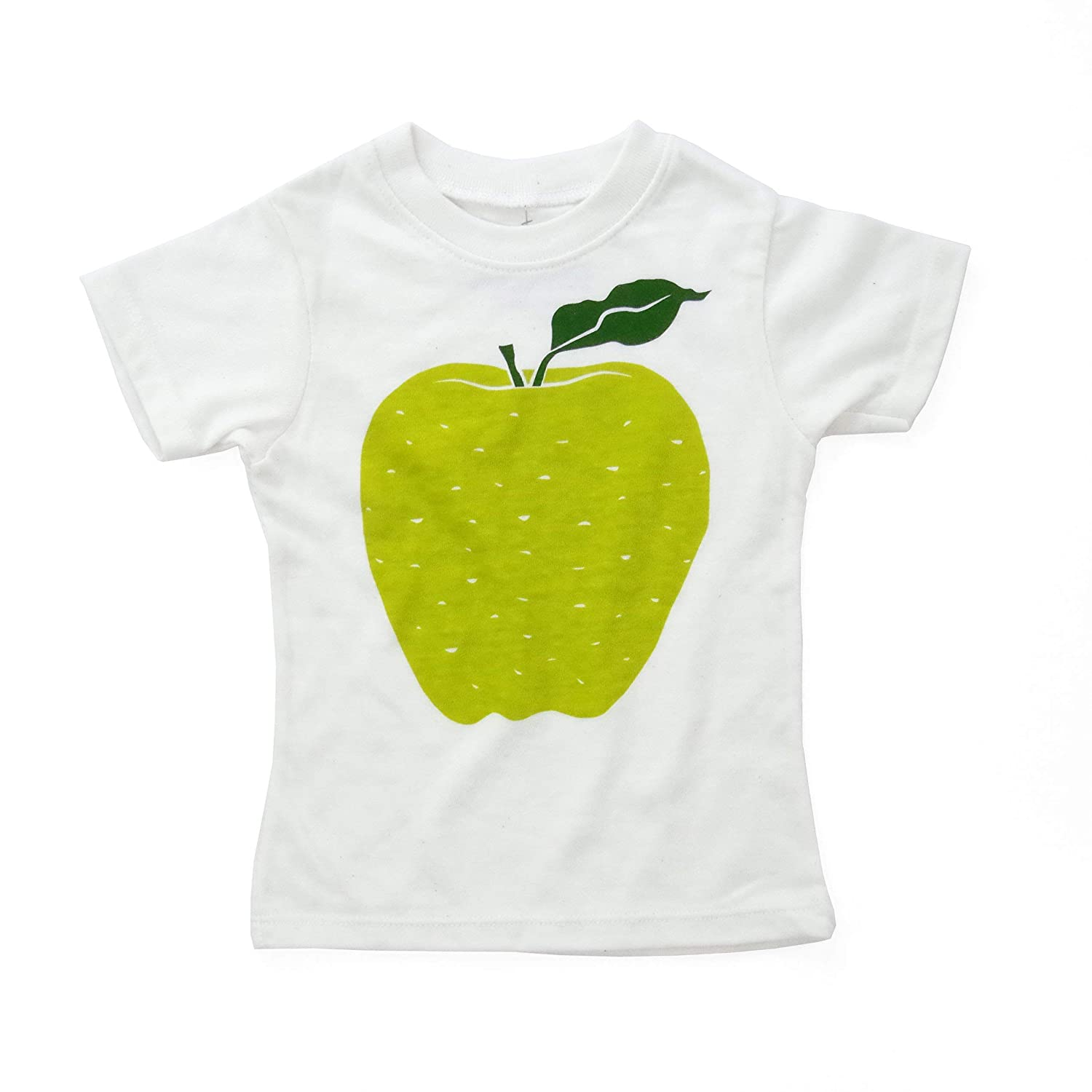 Green Apple Eco-Blend Baby Kids Tee in Natural