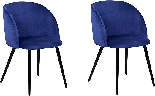 La Silla Española Daroca Silla, Telas, Azul índigo, 51,5cm (Ancho) x 56,5cm (Fondo) x 88,5cm (Alto): Amazon.es: Juguetes y juegos