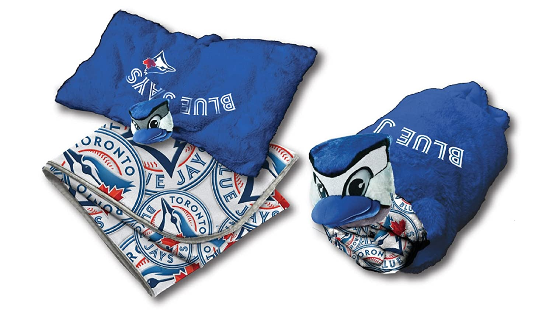 MLB Toronto Blue Jays 2 Piece Set Blanket and Plush Pillow Gertex
