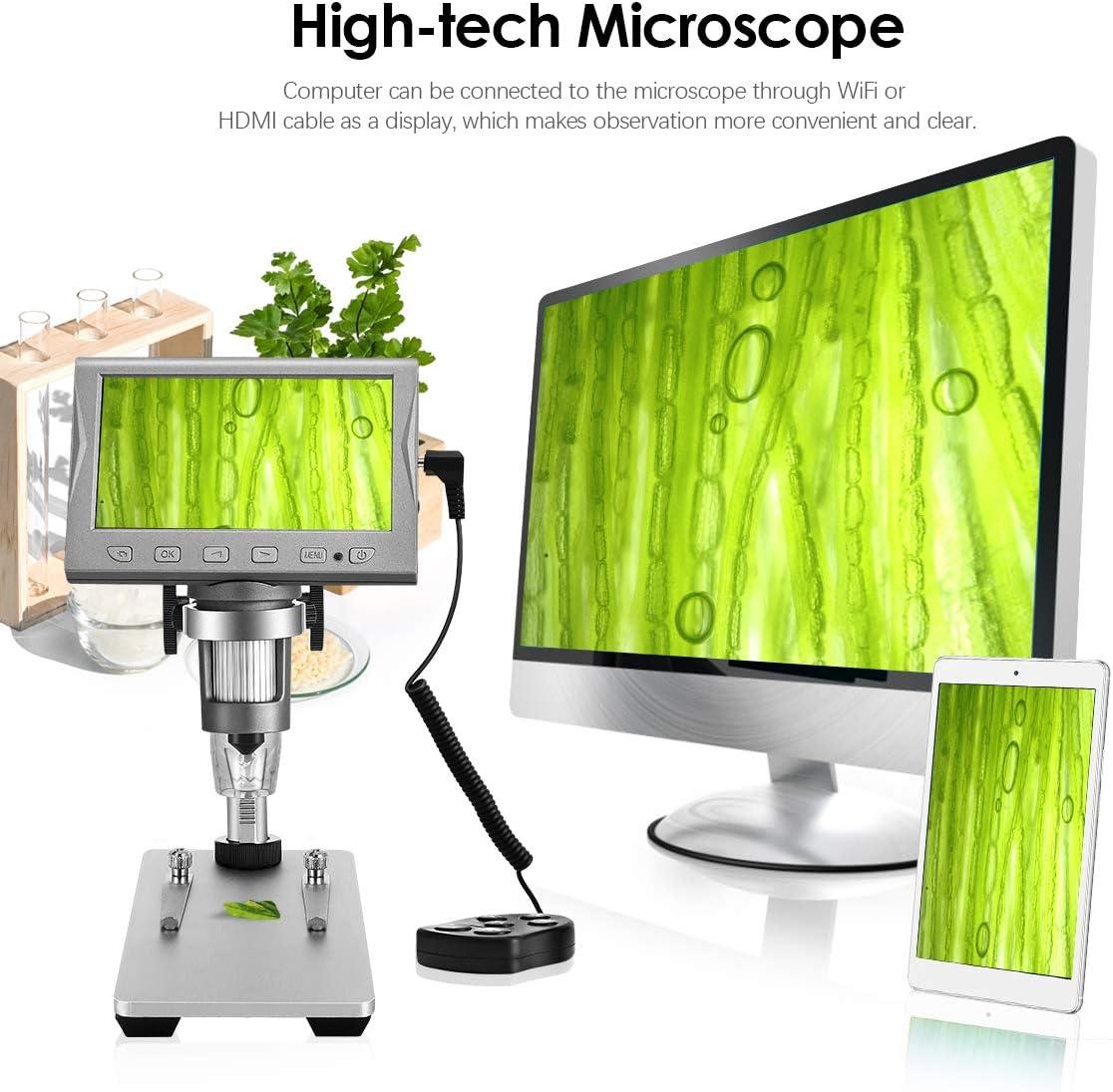 Kacsoo Microscope Num/érique Portable 4,5 Pouces 1080p /écran LCD 500x 2000mah Batterie WiFi Hdmi avec 8 LED r/églables Compatible avec Iphone Android Ipad Computer TV