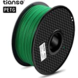 TIANSE Verde filamento PETG per stampanti 3D, 1,75 mm, precisione dimensionale +/- 0,03 mm (2,2 lbs.)