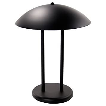 LEDU Two Pole Dome Desk/Table Lamp, Matte Black (L9110)