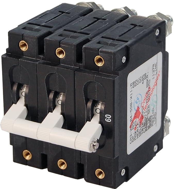 Blue Sea Systems C-Series Triple Pole Toggle Circuit Breakers